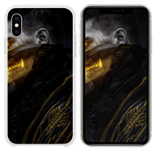 scorpion mortal kombat art iPhone XS case