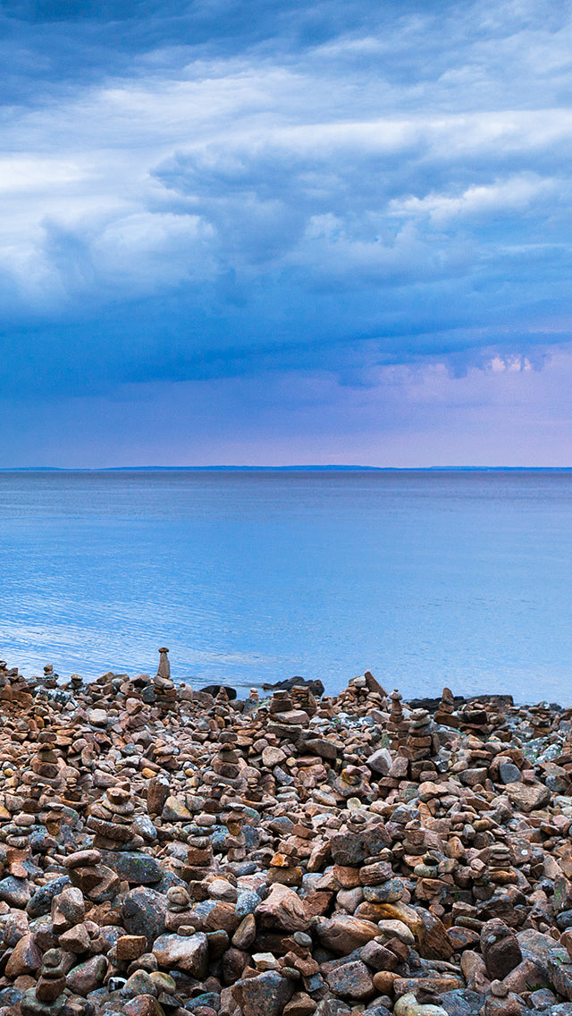 Seaside Pebble Piles Iphone 11 Pro Max Wallpaper
