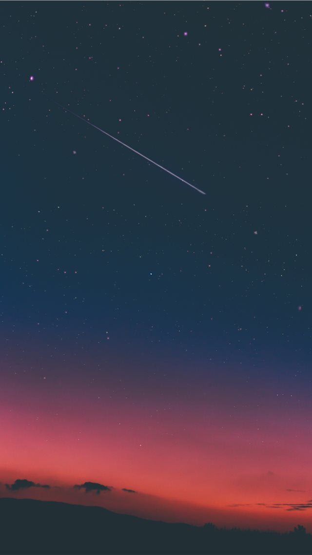 Shooting Star In Night Sky Iphone 11 Case Cover And Wallpaper