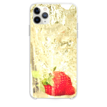 Load image into Gallery viewer, Strawberry Falling In Glass Of Water iPhone 11 Pro Max case