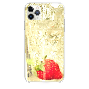 Strawberry Falling In Glass Of Water iPhone 11 Pro Max case