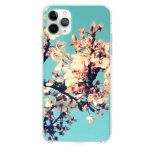 Load image into Gallery viewer, Sunny Cherry Blossom In Cyan Sky iPhone 11 Pro Max case