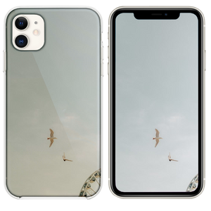 two birds on flight iPhone 11 case