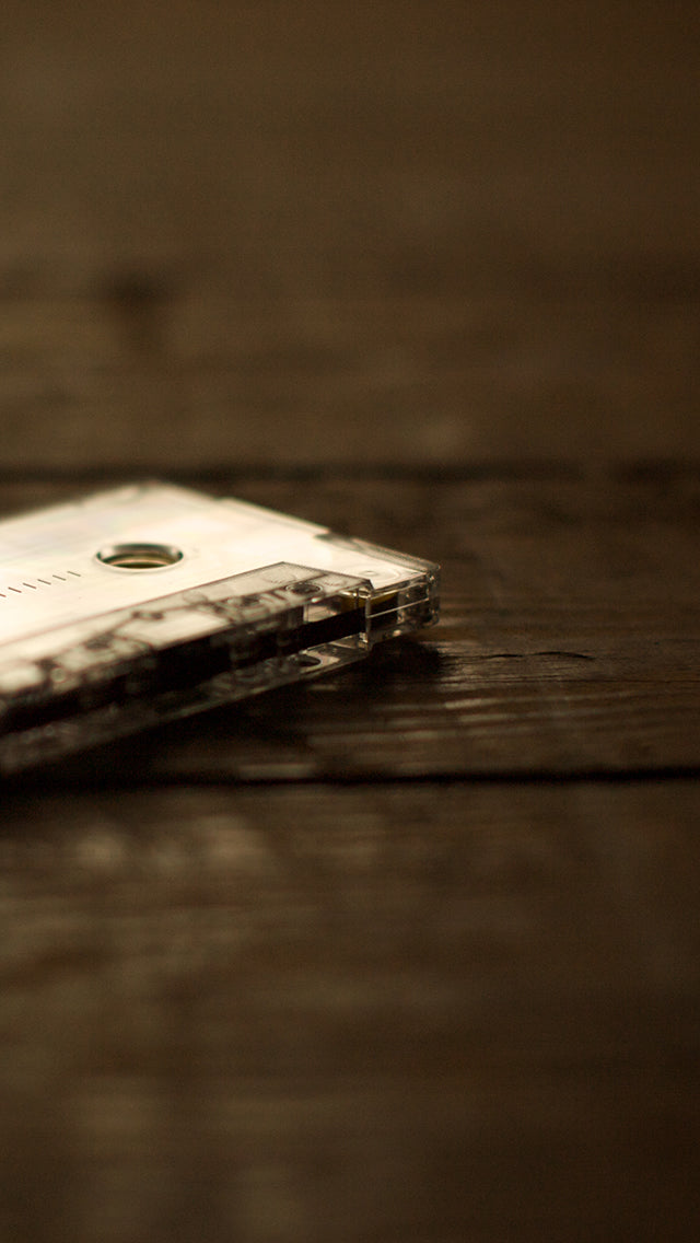 Vintage Tape Wooden Table Iphone 11 Pro Max Wallpaper
