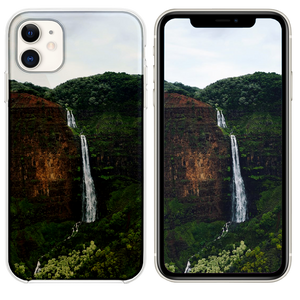 waterfalls at the forest during day iPhone 11 case