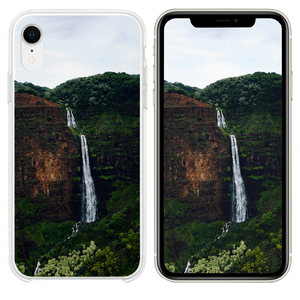 waterfalls at the forest during day iPhone XR case