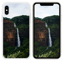 Load image into Gallery viewer, waterfalls at the forest during day iPhone XS case