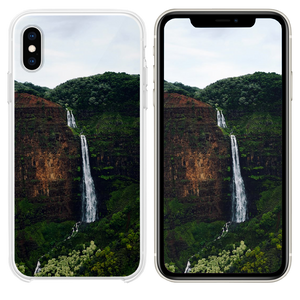 waterfalls at the forest during day iPhone XS case