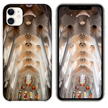 Load image into Gallery viewer, white and brown concrete church interior iPhone 11 case