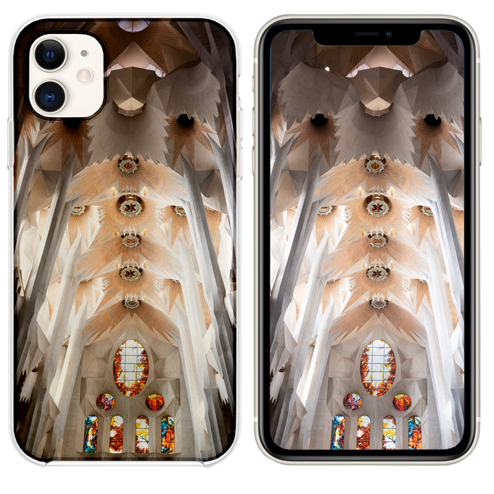 white and brown concrete church interior iPhone 11 case