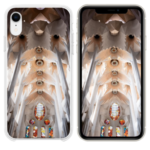 white and brown concrete church interior iPhone XR case
