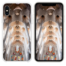 Load image into Gallery viewer, white and brown concrete church interior iPhone XS case