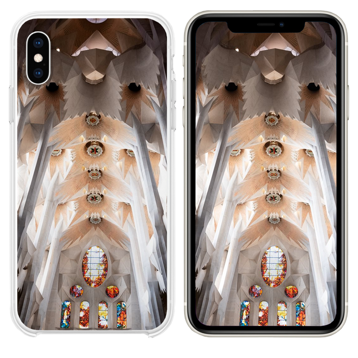 white and brown concrete church interior iPhone XS case