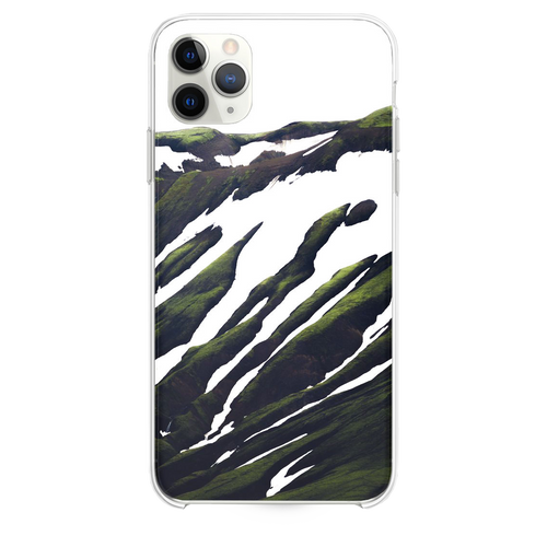 white and green abstract painting iPhone 11 Pro Max case