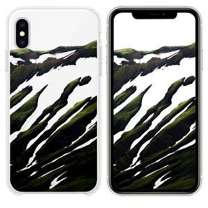 white and green abstract painting iPhone XS case