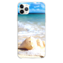 Load image into Gallery viewer, White Seashells In Waves iPhone 11 Pro Max case