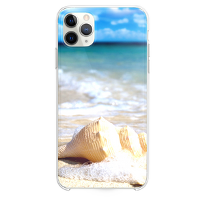 White Seashells In Waves iPhone 11 Pro Max case