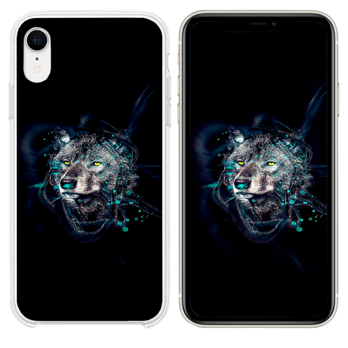 Wolf by ekud illust art iPhone XR case