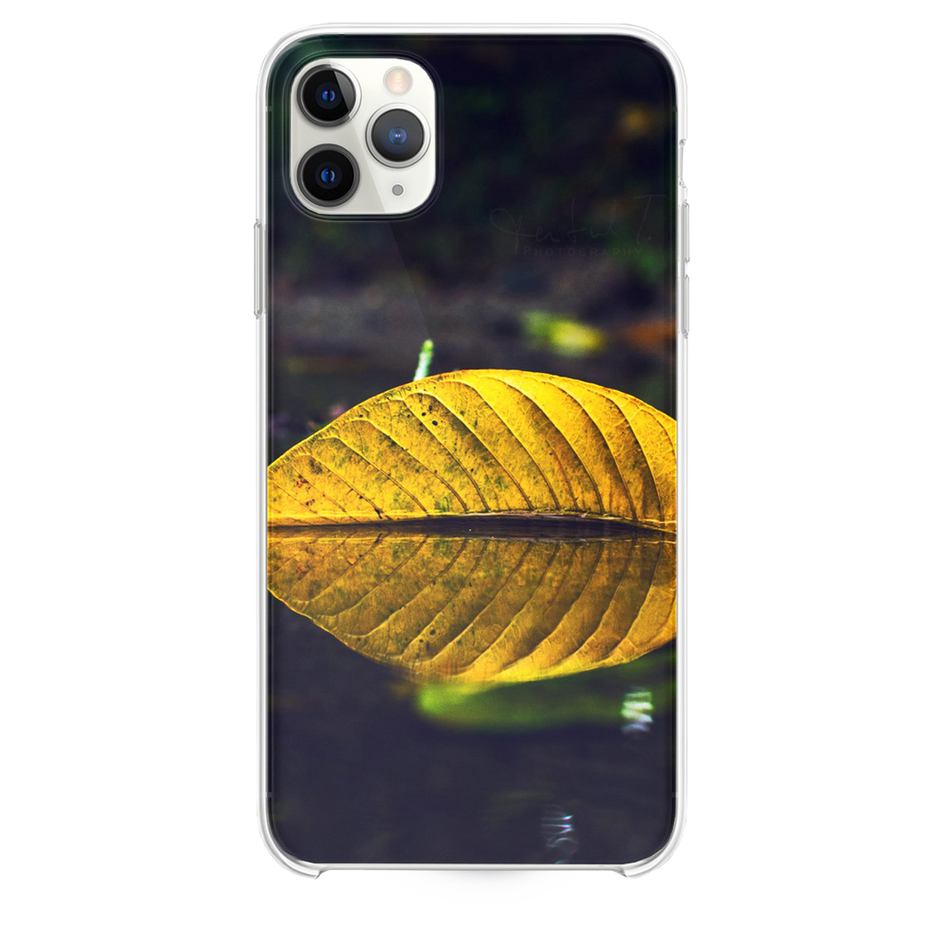 Yellow Leaf On Water iPhone 11 Pro Max case