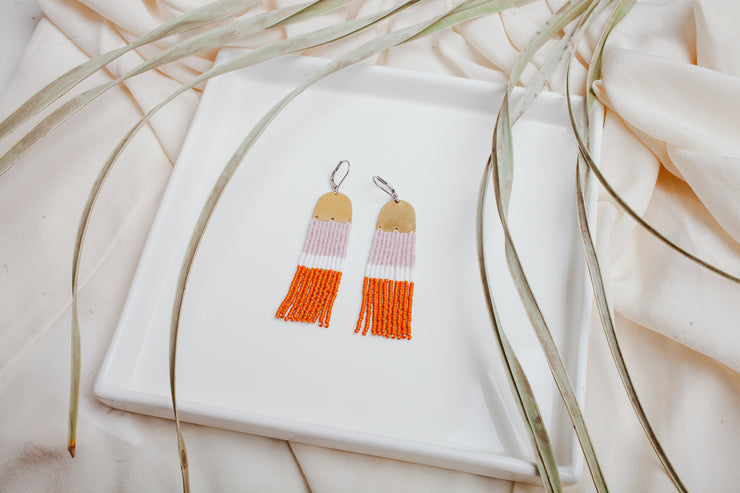 Lavender & Burnt Orange Colour Block