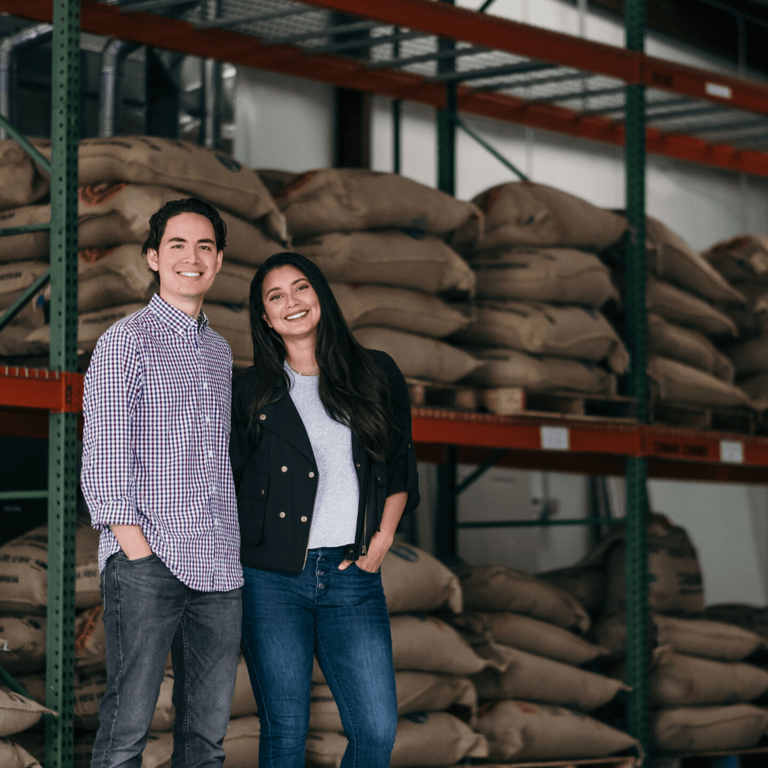 Harry Hutchins and Leticia Hutchins, owners of Alma Coffee