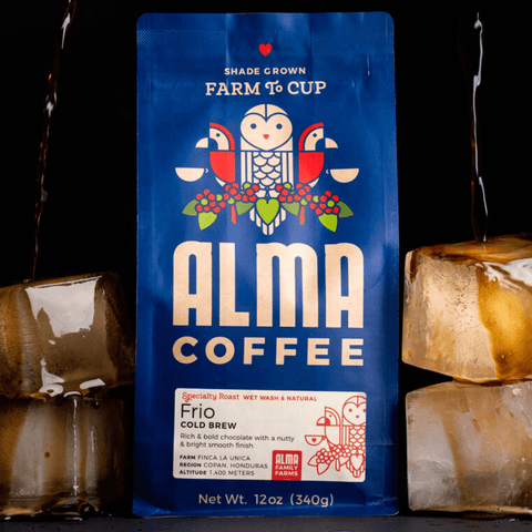 Alma Coffee cold brew roast straight from our USDA organic farms in Honduras