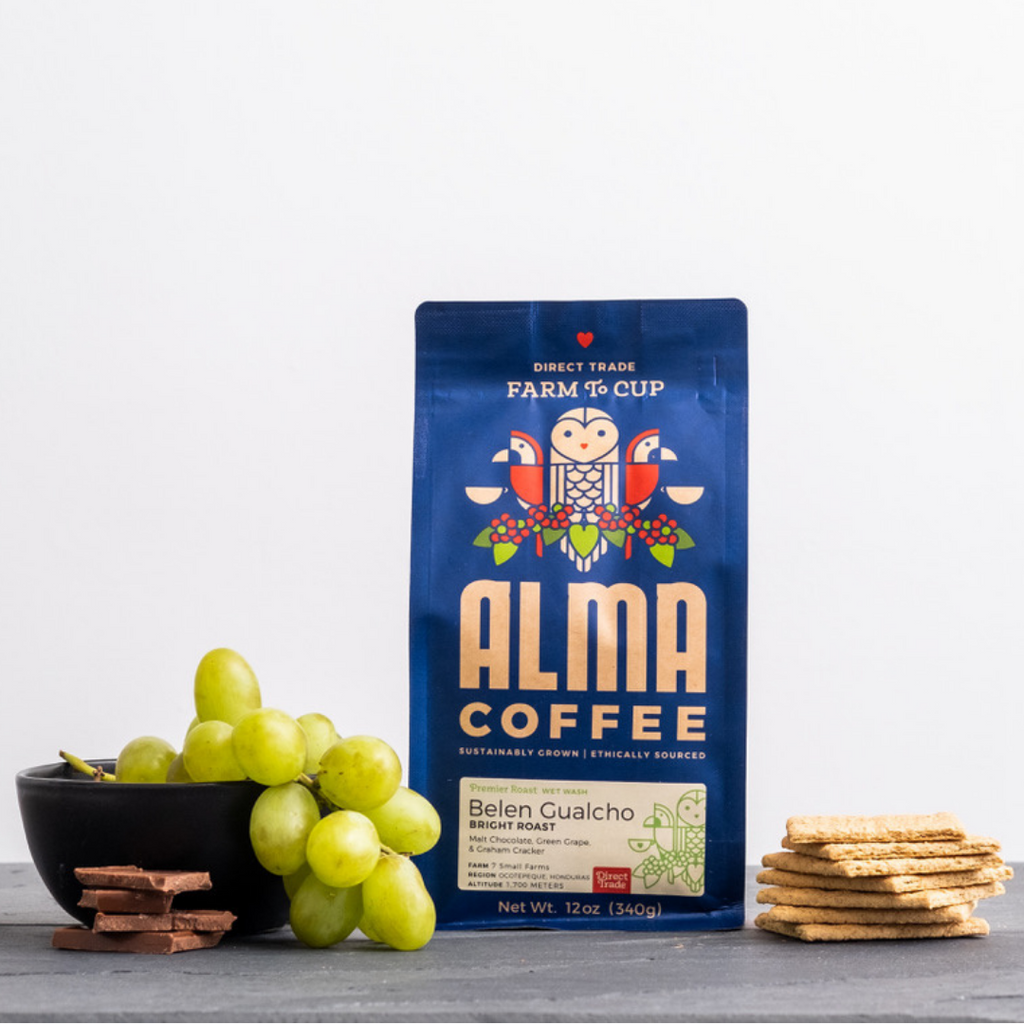 belen gualcho, a light roast coffee