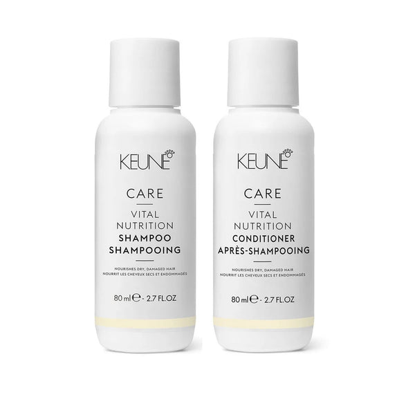 Keune Care Vital Nutrition Shampoo & Conditioner 2.7 oz Travel Size Duo Set
