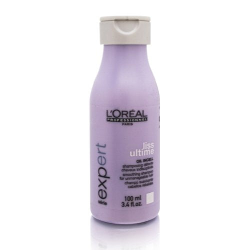 Loreal: Serie Expert Liss Ultime Oil Incell Shampoo, (Travel Size) 100ml/3.4oz