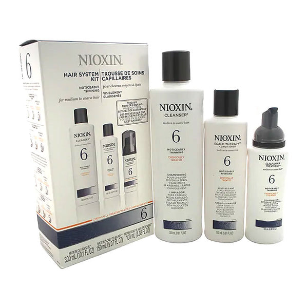 Nioxin System 6 for Medium To Coarse Hair 3 Piece Kit