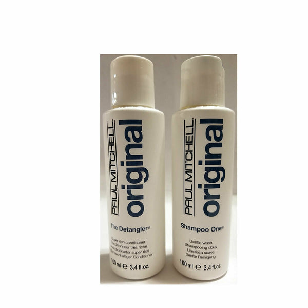 Paul Mitchell Original Shampoo One & The Detangler 3.4 oz Set / Duo