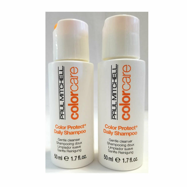 Paul Mitchell Colorcare Color Protect Daily Shampoo 1.7 oz - 2 Pack Travel Size