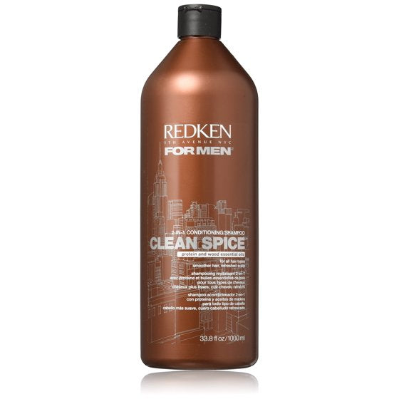 Redken For Men Clean Spice 2 in 1 Conditioning Shampoo, 33.8 oz.