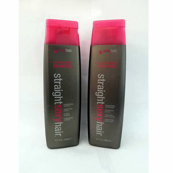 Straight Sexy Hair Straightening Shampoo & Conditioner 10.1 oz Set / Duo