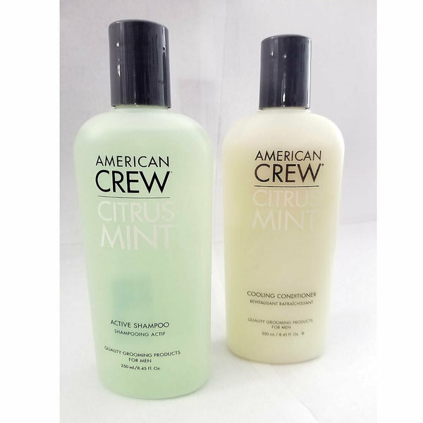 American Crew Citrus Active Shampoo & Mint Cooling Conditioner 8.45 oz Set / Duo