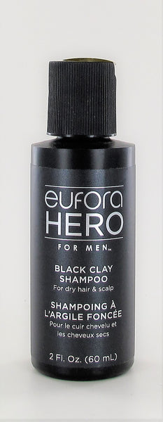 Eufora Hero For Men Black Clay Shampoo 2 oz