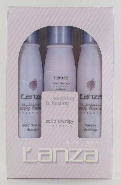 L'Anza Smoothing & Healing Scalp Therapy Kit TRAVEL SIZE, 4.2 oz