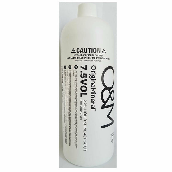 O&M Original Mineral 7.5VOL 2.2% Liquid Shine Activator 33.8oz