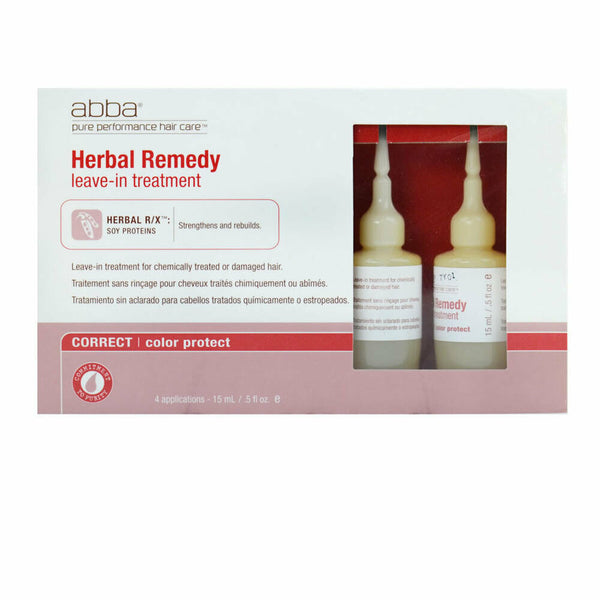Abba Herbal Remedy Color Protect Leave-In Treatment - 4 vials 0.5 oz