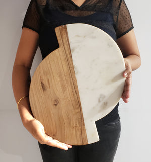 Marble wooden chopping board and serveware