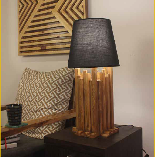 Architectural wooden lamps