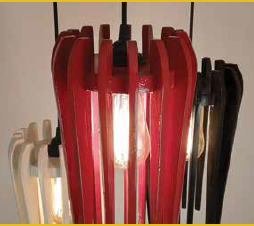 Tri colored cluster pendant lamps