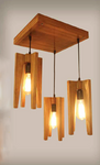 Tapered wooden cluster pendant lamps