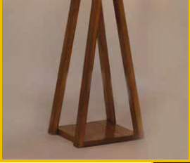 Criss cross wooden floor lamp