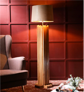Groovy wooden floor lamp