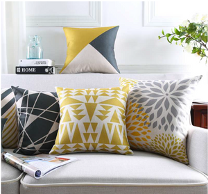 golden geometry cushion cover