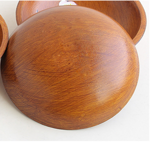 wooden flower printed bowl