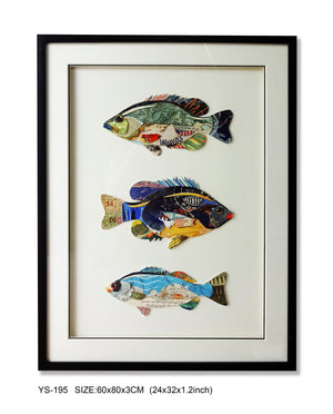 Fishes collage wall art