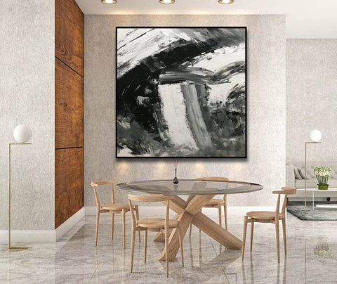 Image of Large abstract painting  | Oil painting original F330-1