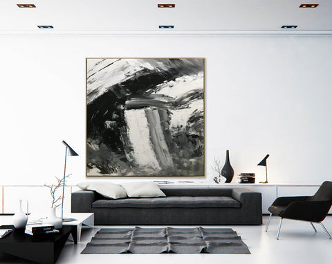 Image of Large abstract painting  | Oil painting original F330-2
